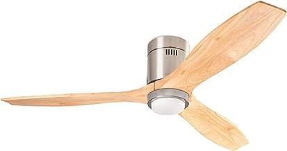 Ventilateur LED STEM intégré et moteur nickel en bois DC 137cm