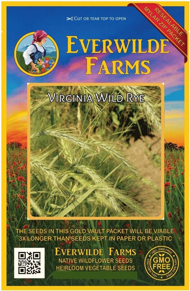 Everwilde Farms - Max 50% OFF 500 Virginia Discount is also underway Wild Grass Native Rye Seeds Gol