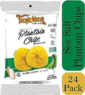 TropicMax Plantain Chips - Case of 24 (2.5oz) Homemade Style 100% Natural Plantain Snack - Non-GMO, Kosher, Vegan, Gluten-Free, Certified Kosher (SeaSalt)