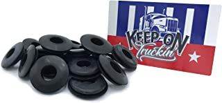 "KCP Performace Fleet Rubber Gladhand Seals with Window Sticker - 10 or 20 Pack - Real Genuine Rubber - with Bonus ""Keep On Truckin'"" Sticker (20)"