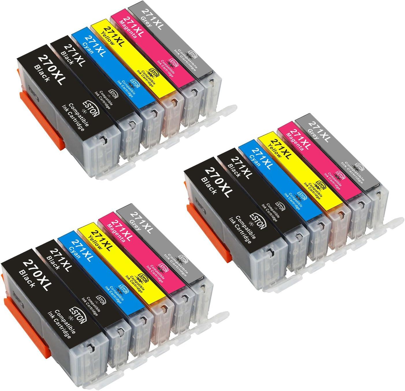 ESTON 18PK Oklahoma City overseas Mall Ink Set + Chip W Use for MG7 CLI-271XL PGI-270XL Grey
