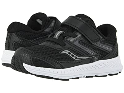 Saucony Kids S-Cohesion 13 Jr (Toddler) (Black Leather/Mesh) Boys Shoes