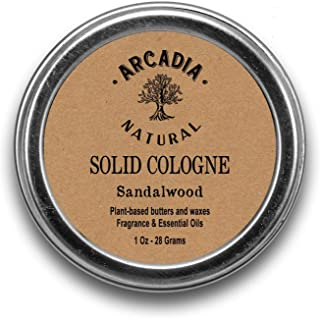 Sandalwood (Sweet) Solid Cologne - Handcrafted with natural oils and butters, Vegan and alcohol-Free cologne
