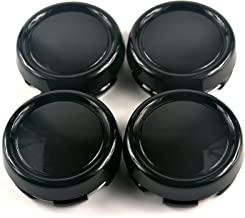 79mm Black ABS Car Wheel Center Hub Caps Base Set of 4