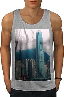 Wellcoda 香港 香港 シティ ファッション 男性用 S-2XL タンクトップ