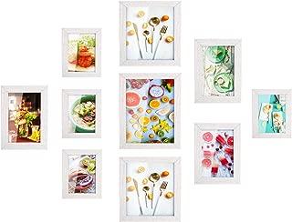 MVPower Set de 10 marcos de fotos 10 marcos de cuadros individuales Poster Photo Collage Home Decor (Blanco)