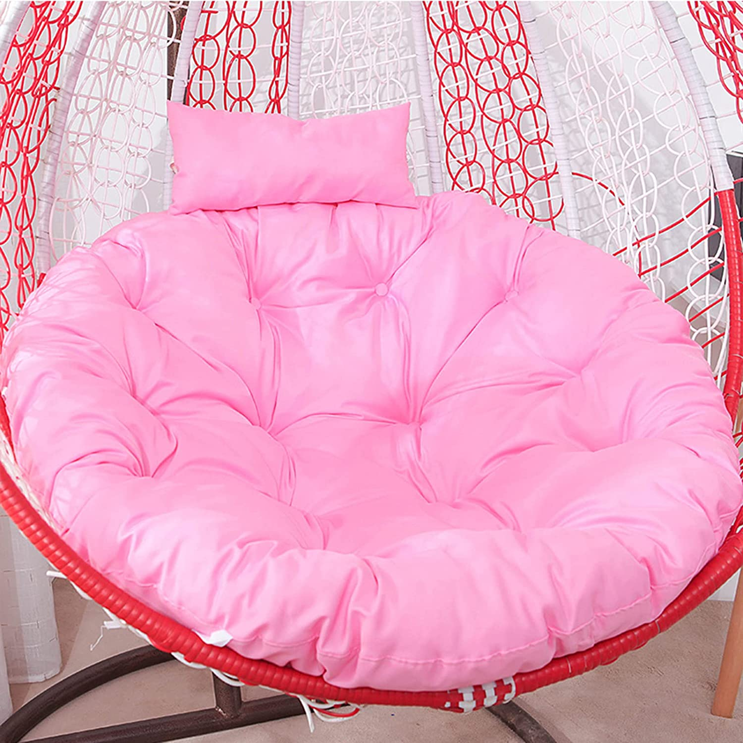 ZZZYZ Hanging Super special price Basket Swing Max 56% OFF Seat Cushion Wi Large Round Chair Pad