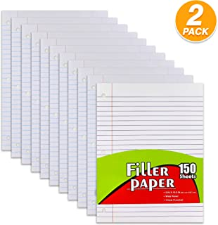 Emraw Wide Ruled Filler Paper Perfect for Normal Everyday Notetaking 10.5