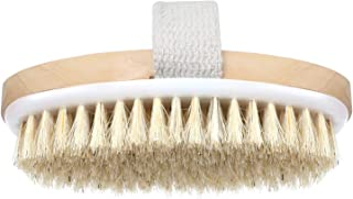 Charyeah Dry Skin Body Brush, Exfoliating Face Brush, Natural Boar Bristle Body Brush - Improves Lymphatic Functions, Remove Dead Skin Toxins Cellulite, Stimulates Blood Circulation