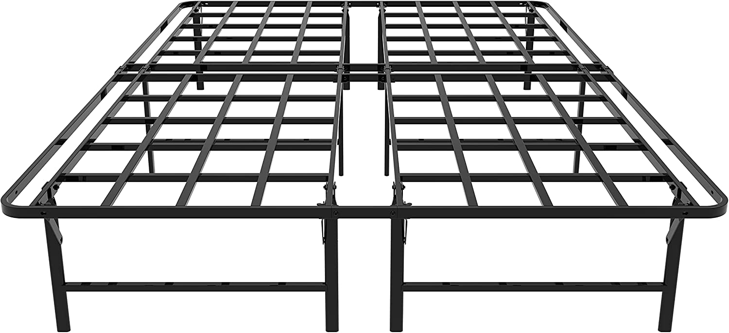 ZIYOO 14 Inch Max 65% OFF Full Discount mail order Size Heavy Platform Frame Bed Metal with Duty