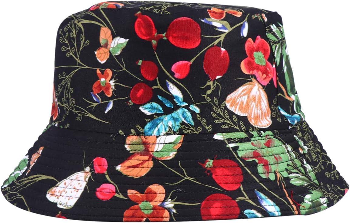 Chapéu balde reversível estampado, da Kesyoo