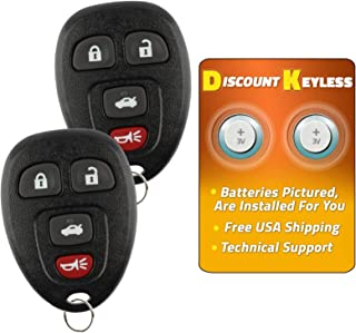 For 06-11 Buick Lucerne 06-11 Cadillac DTS, 06-13 Chevy Impala 06-07 Monte Carlo Keyless Entry Remote Key Fob 4btn 15912859, OUC60270, OUC60221-2 PACK
