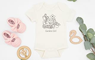 Garden Girl Baby Girl Bodysuit, Organic Cotton Baby Clothes, Modern Boho Baby Girl Outfit, Bohemian Baby, Baby girl Gift, Baby Announcement