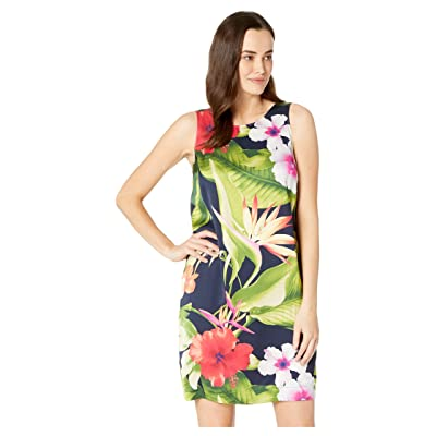 Tommy Bahama Paradise Breeze Sheath Dress (Ocean Deep) Women