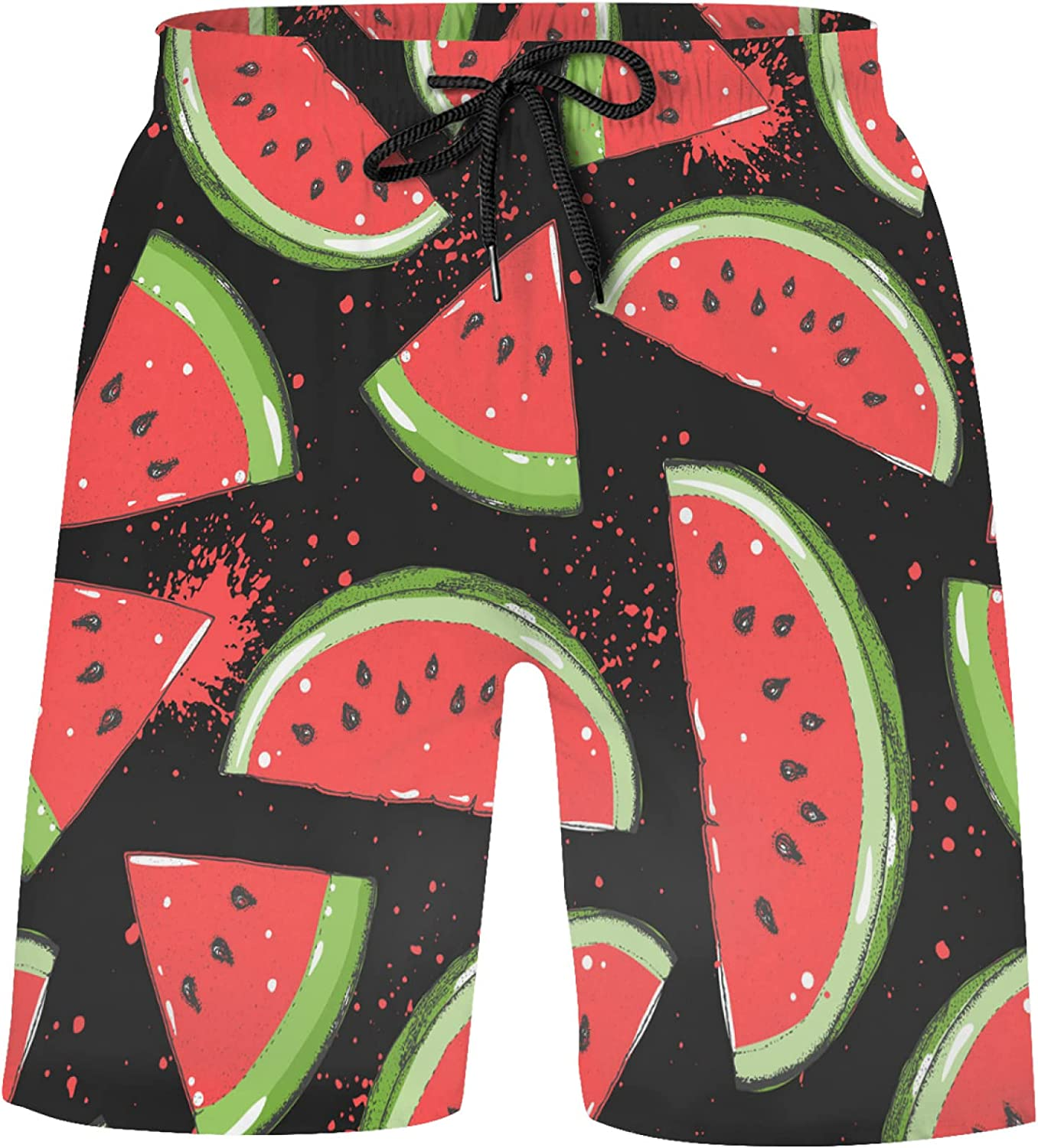 Red Watermelon Tampa Mall Max 42% OFF Slice Bathing Suits f Swim Shorts Trunks Athletic