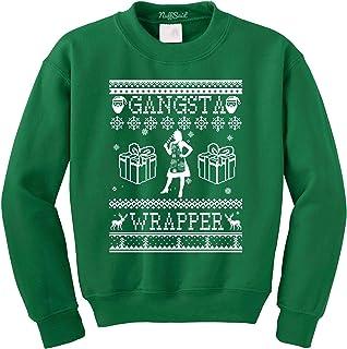NuffSaid Gangsta Wrapper Christmas Crewneck Sweatshirt - Unisex Crew