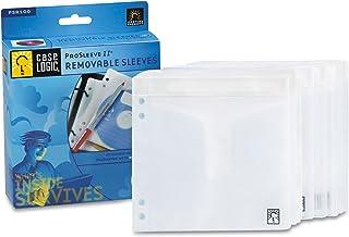 Case Logic PSR100 Two-Sided ProSleeve II CD/DVD Sleeves, 50/Pack