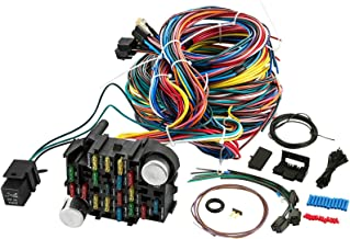 smileracing 21 Standard Circuit Universal 17 Fuses Wiring Harness Kit for Chevy Mopar Ford Hotrod Universal Extra Long Wires