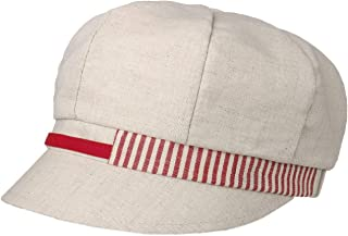 Lipodo Berretto Newsboy Stripes Lino-Cotone Donna - Made in Italy Cotton cap Lino Estivo con Visiera, Visiera Primavera/Es...