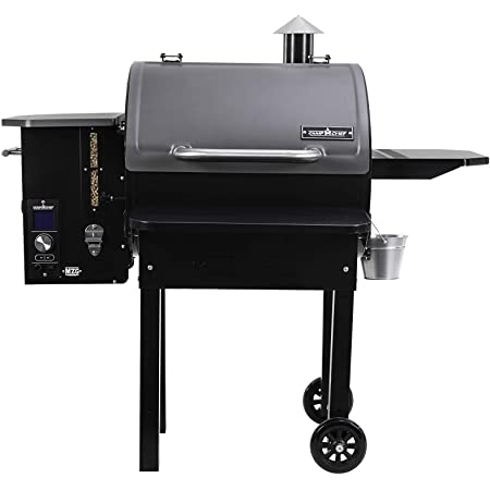 Camp Chef PG24MZG SmokePro Slide Smoker with Fold Down Front Shelf Wood Pellet Grill, Pack of 1, Black