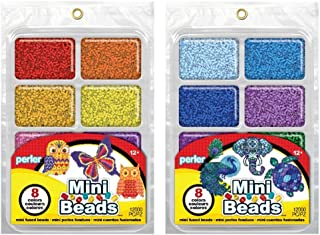Perler Mini Beads Tray Bundle - Warm and Cool
