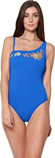 Bleu Rod Beattie Womens RBLS19279 One Shoulder One-Piece Swimsuit Bathing Suit One Piece Swimsuit