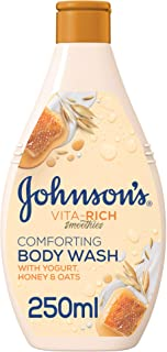 JOHNSON'S Body Wash - Vita-Rich, Smoothies, Comforting, Yogurt, Honey & Oats, 250ml