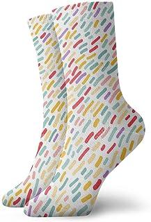 Calcetines de algodón para hombre y mujer, diseño divertido, multicolor