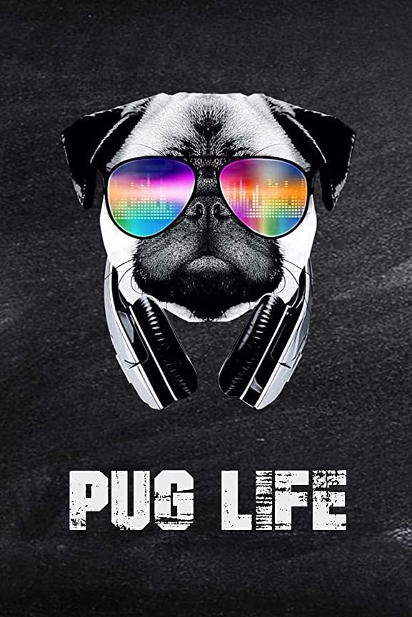 増幅器バックアップ振幅Pug Life: Cool Dog Owner College Ruled Blank Lined Notebook