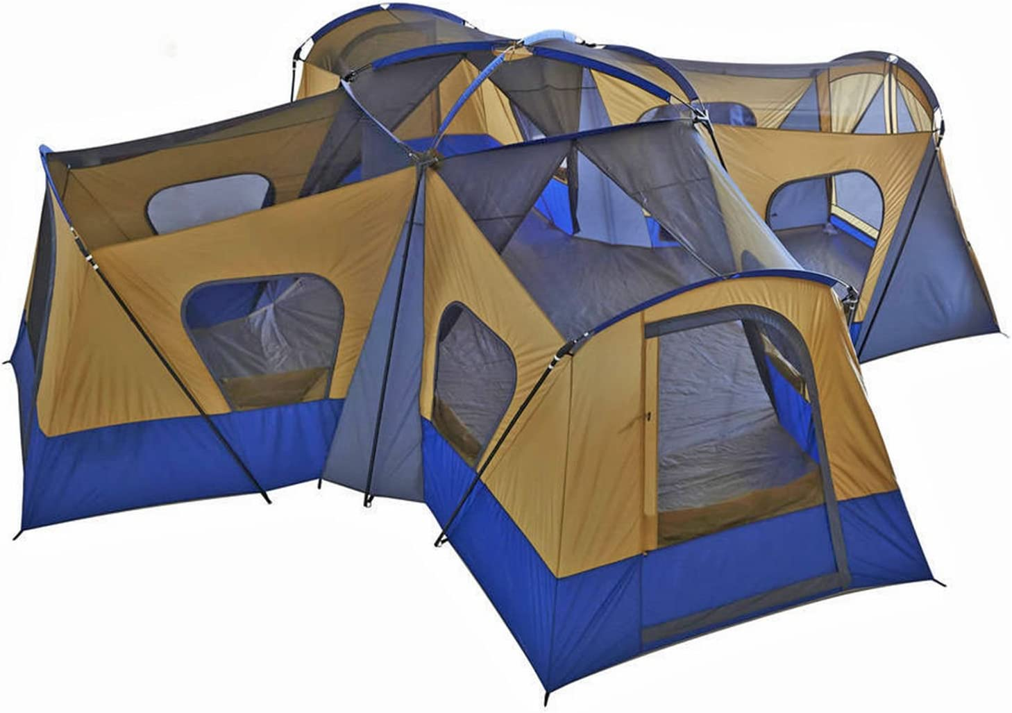 fortunershop Family 1 Directly managed store year warranty Cabin Tent 14 Person 4 Camp Hikin Rooms Base