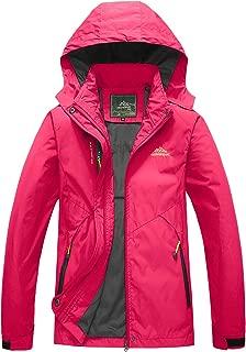 BIYLACLESEN Women's Outdoor Sports Jacket Lightweight Softshell Hiking Jacket Casual Sportswear Hooded Windbreaker