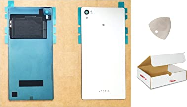 (md0410) Chrome Mirror Rear Back Glass Battery Door Housing Cover with NFC Replacement + Adhesive + Tool Compatible for Xperia Z5 Premium 5.5