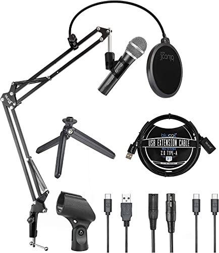 discount Audio Technica ATR2100x-USB Cardioid Dynamic Microphone (ATR Series) for Voiceover, Podcasting popular and Studio Recording Bundle with Blucoil Boom Arm Plus Pop lowest Filter, and 3' USB Extension Cable online