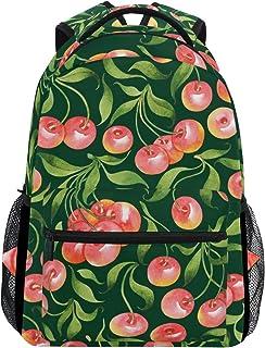 マキク(MAKIKU) リュック レディース 軽量 リュックサック 大容量 高校生 A4 中学生 小学生 通学 リンゴ 林檎柄 果物