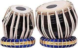 Beautiful Steel Bayan, Finest Sheesham Dayan Black Tabla Drum Set & Hammer Percussion Musical Instrument with Carry Bag & Cushion