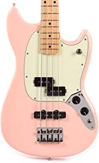 Fender Offset Series Mustang Bass PJ MN Shell Pink w/3-Ply Mint Pickguard (CME Exclusive)