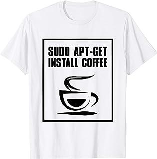 Linux Sudo apt-get install café, cadeaux Geek Nerd admin T-Shirt