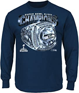 Seattle Seahawks 2013 Super Bowl Champs Victory Bling Championship Long Sleeve T-shirt