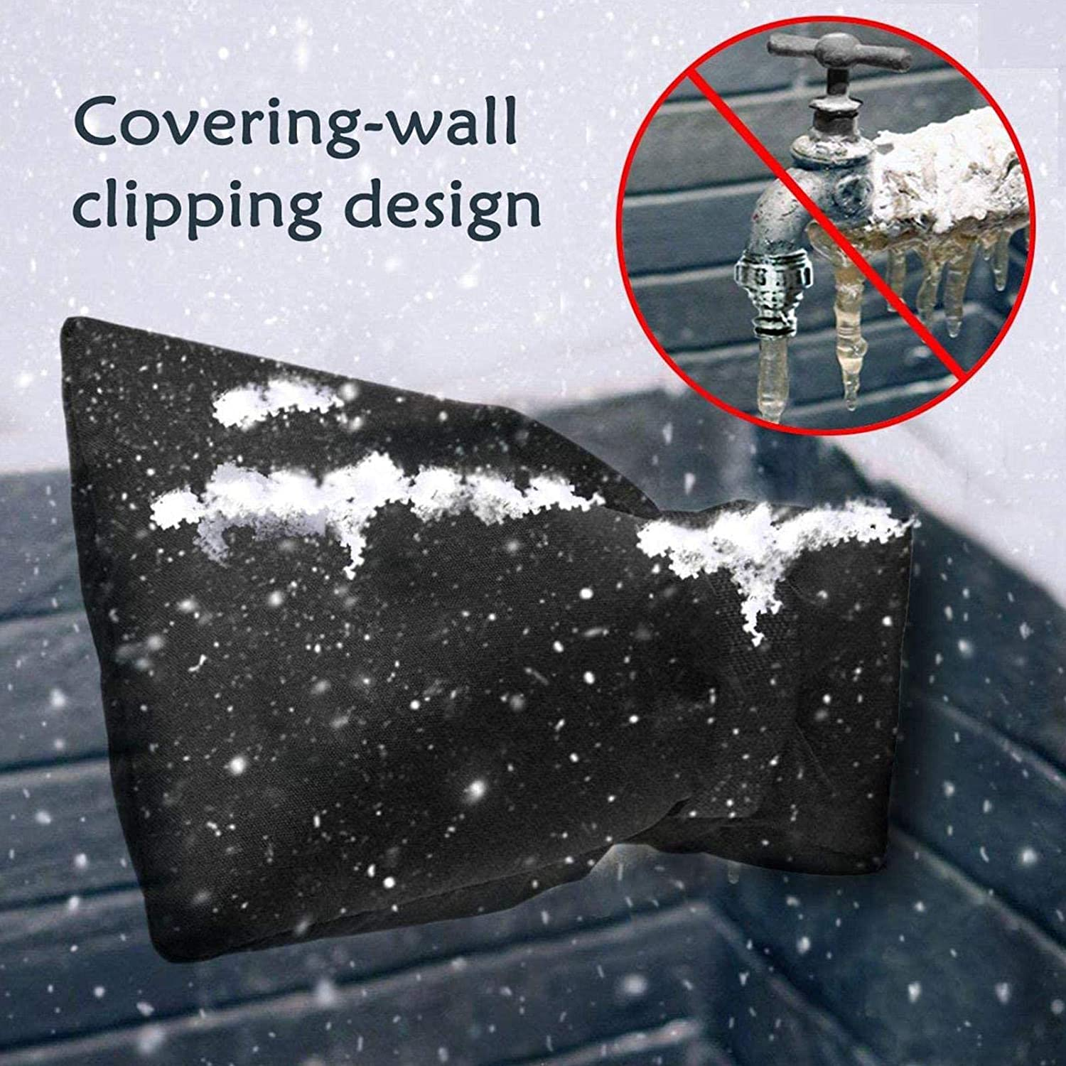 Insulated Spigot Cover for Winter N//Q Winter Faucet Cover Rainproof Thicker Reusable Faucet Freeze Protector Outdoor Faucet Covers for Winter Freeze Protection