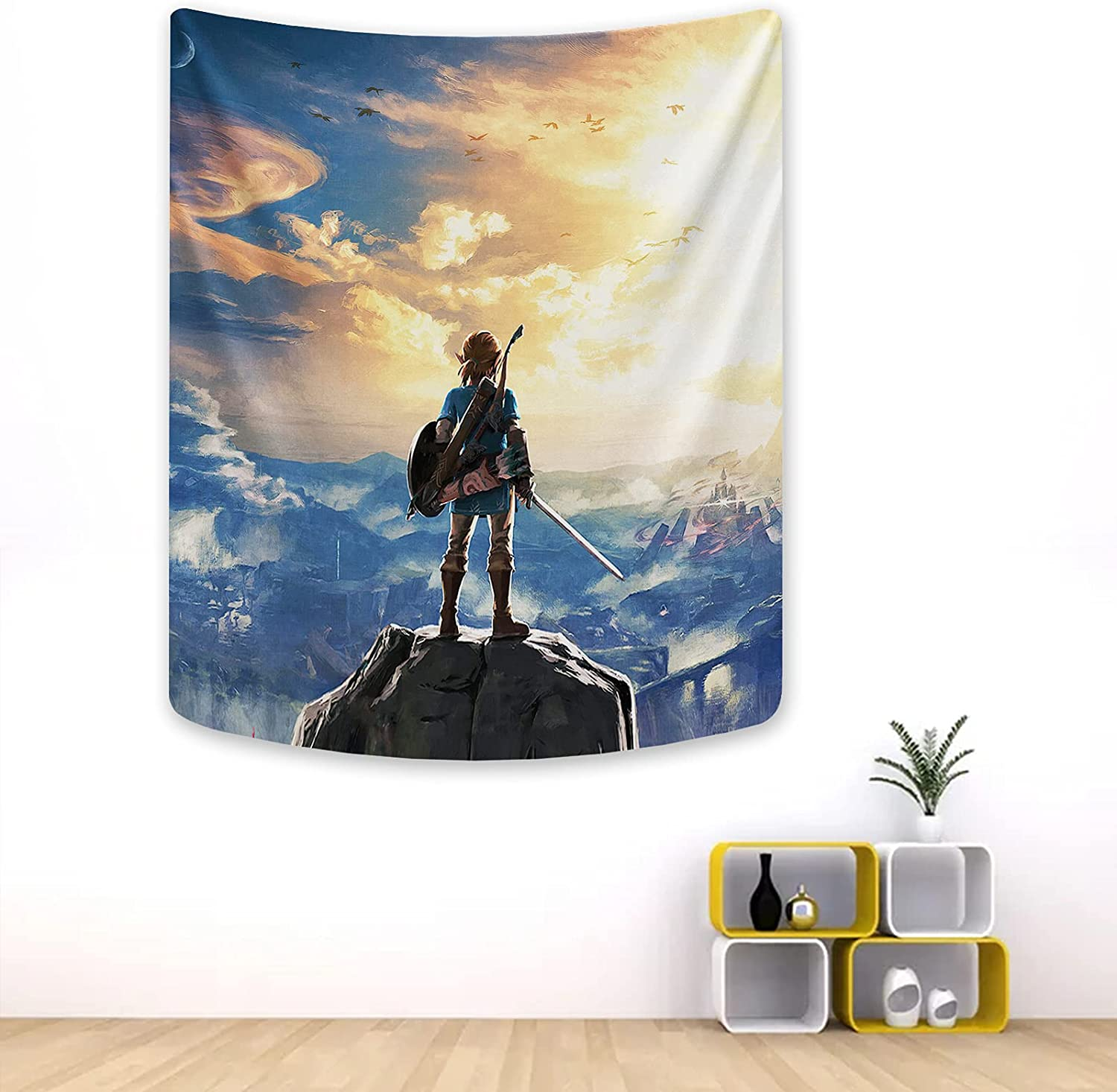 Legend of Ze_lda Tapestry Game Poster Backdrop for Bedroom Dorm Room Birthday Party Decoration 50x60in