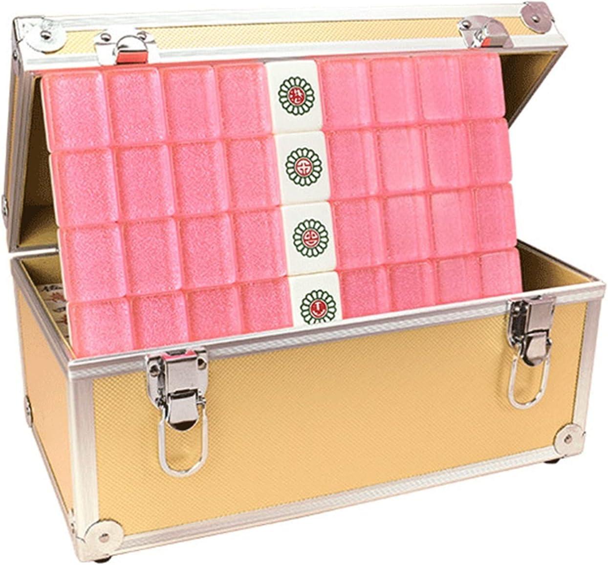 ERJIANG Newest Tile Games Mahjong Set 1 year warranty Mah 144 Japan's largest assortment Packing Box Yellow