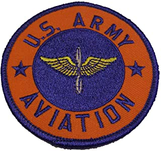 Embroidered Patch - Patches for Women Man - US Army Aviation Cadet Wings Round Training Fort Rucker AL