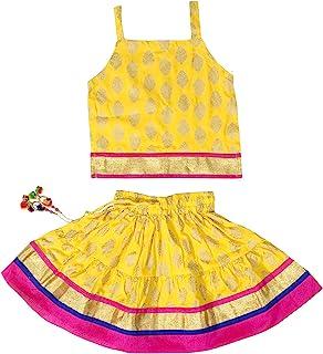 Chandrakala Kids Lehenga Choli Set Ethnic Traditional Party Wear Dress Skirt Tops for Girls (KL101)