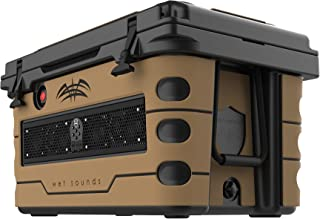 wet sounds Stealth SHIVR-55-BLK Black High Output Audio Cooler Speaker System + Full Gator Step Kit - Whiskey Over Black