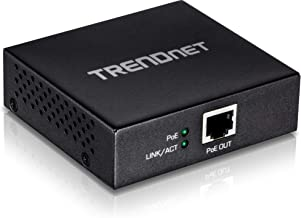 TRENDnet Gigabit PoE+ Repeater/Amplifier, Single Port PoE Power over Ethernet, Extends 100m for Total Distance Up to 200m (656 ft.), TPE-E100