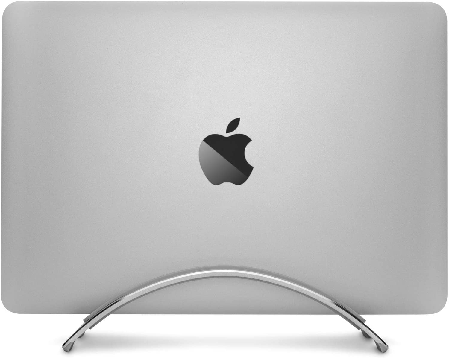 soporte en vertical macbook Twelve South BookArc plateado