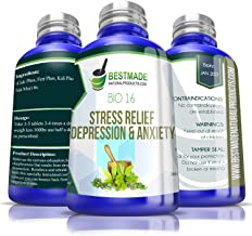 Stress Relief, Depression & Anxiety Bio16, 300 pellets, Effective Relief from Symptoms of Nervous Exhaustio...