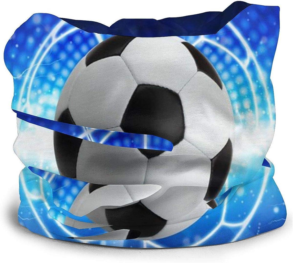 KiuLoam Bandanas Face Mask, Abstract Soccer Ball Print Neck Gaiter Mask Headband for Men Women Face Scarf Dust, Outdoors, Sports
