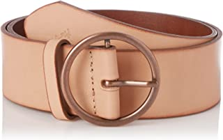 Wrangler Women's Round Buckle Belt, Tan