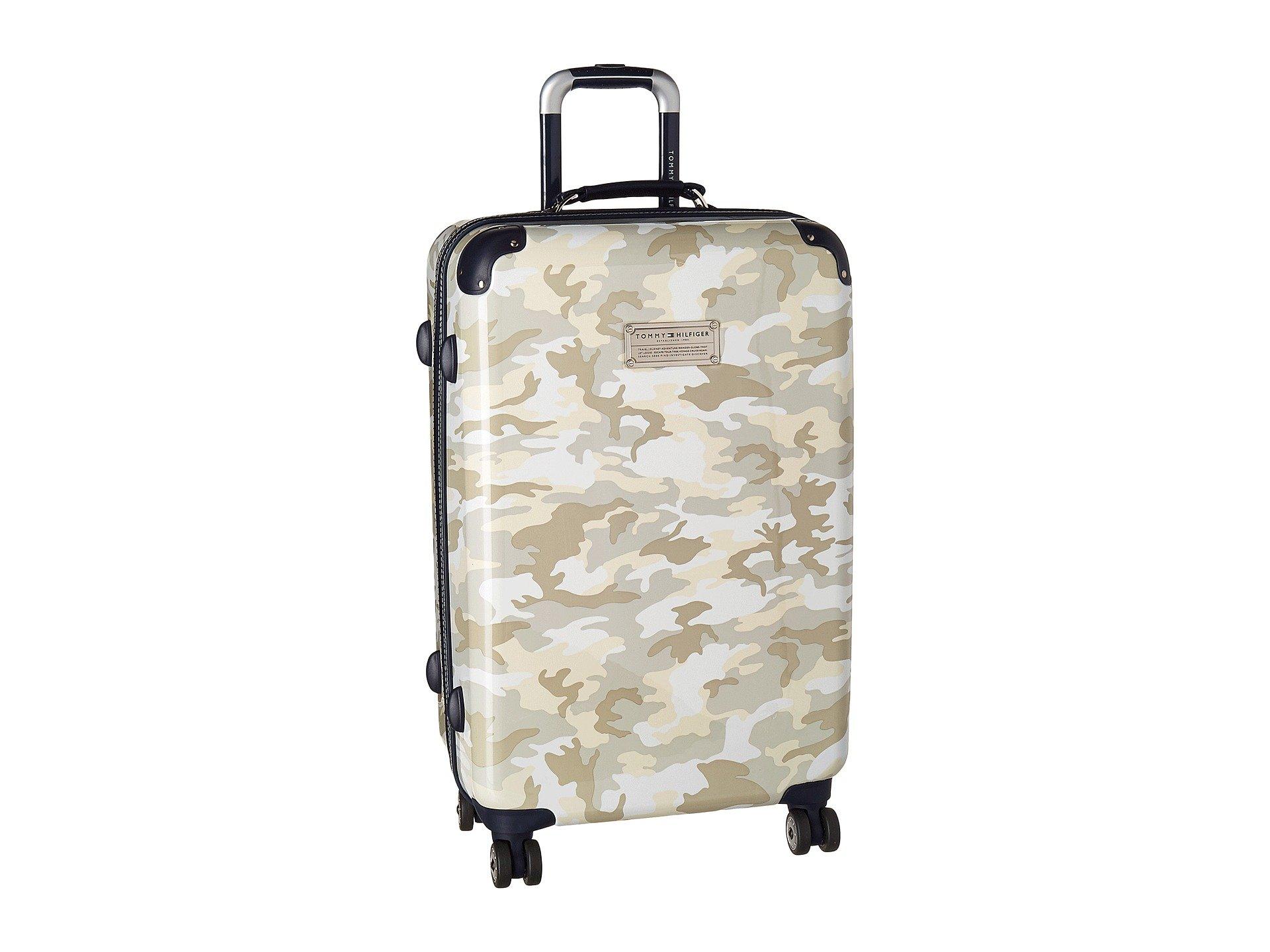 "East Coast Camo 24"" Upright Suitcase, WHITE"
